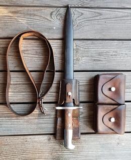 Штик-ніж Швейцарський ШмідтаРубіна1911р.+ремінь і підсумок.