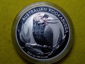 1 доллар 2012 Австралия серебро 999 1 унция Кукабара