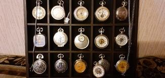 Коллекция карманных часов  16шт