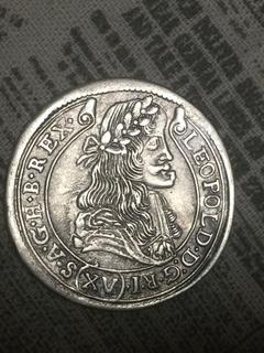 Австрия для Венгрии 15 крейцеров 1680 Леопольд Серебро