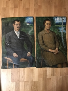 Григорий Ксенз (1930- е) Портрет учительницы и ее мужа