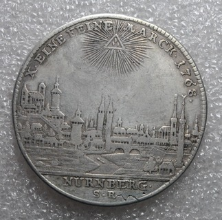 Талер Иосиф 2 Нюрнберг 1768г
