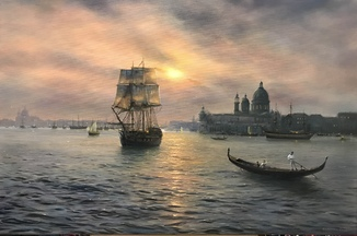 «Прощай Венеция» холст масло 60х90 Борисенко