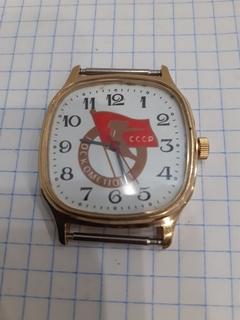 Часы ссср позолота