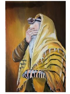 Молящийся Еврей . Холст/масло. 40*60.