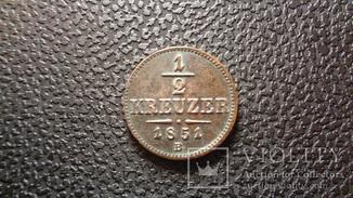 1/2 kreuzer 1851,B