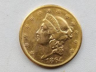 20 доларів США 1864 року.