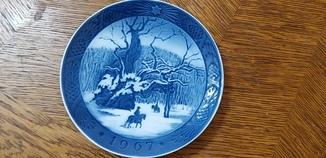 Рождественская тарелка 1967 Royal Copenhagen