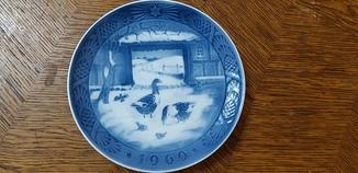 Рождественская тарелка 1969 Royal Copenhagen