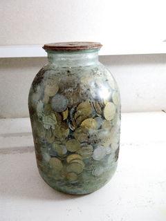 Большая копилка с монетами Украины 12 кг