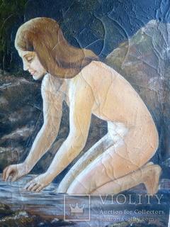 Картина Девушка у воды.холст