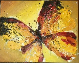 Бабочка. Масло холст