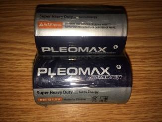 Батарейки новые Samsung Pleomax R20  D1.5.V  2 шт. в блистере