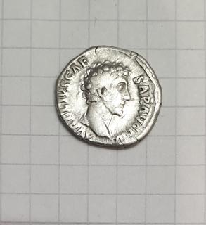 Денарий Марк Аврелий в ранге Цезаря