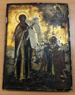 Икона Пресвятой Богородици и Андрея Боголюбова