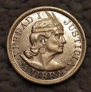 1/2 либры Перу 1908г.