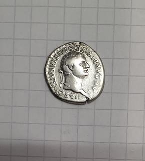 Денарий Домициан в ранге Цезаря