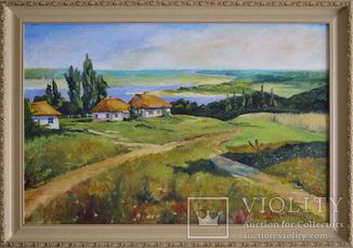 """Картина """"Українське село"""" 40Х60, 2018р"""
