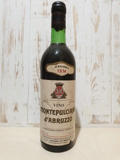Вино 1974 Montepulciano d`Abruzzo  cc.720  gr.12.5