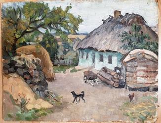Двор. Леонид Панкоша 60-е годы
