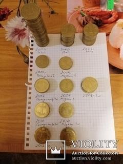 Лот монет одна гривна 104шт. разных годов от 2001.см.описание
