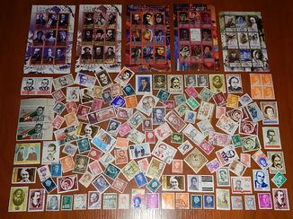 Личности. Персоналии. Коллекция марок: (138 шт.) + блоков: листов. ( 5 шт. по 9 марок).