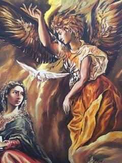 Копия Annunciation  (Благовещение) Эль Греко 1573