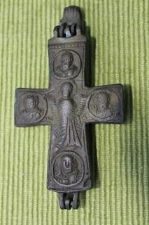 Візантійській прямоконечний рильєфний енколпіон X-XI ст.