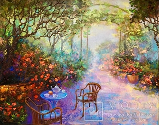 Картина «Столик в саду» 55х70 Шевченко Л.И.