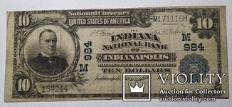 10 долларов 1905 США Индиана