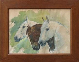 Юлиуш Хольцмюллер (1876-1932). Три лошади