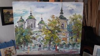 ''Киевская церковь'',холст,масло