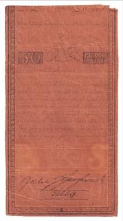 Польша 50 Злотых 1794. Водяной знак. RR