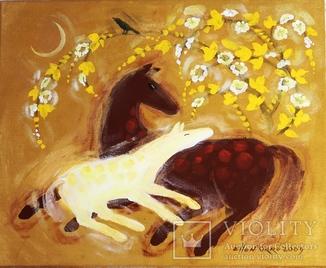 Картина «Материнство.Весна.». Художник Ellen ORRO. холст/акрил. 55х45, 2009 г.