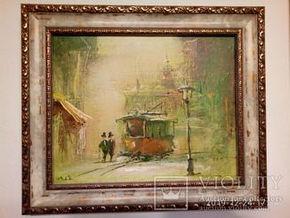 """""""Перший трамвай"""" 22х27см А.Гук 2000р."""