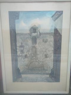 Картина старый амбар в риге 1975 год