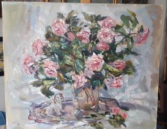 Натюрморт с  чайными розами