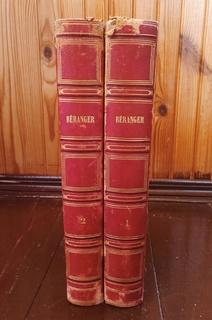 Пьер Беранже. 2 тома. 52 стальные гравюры.1847 год