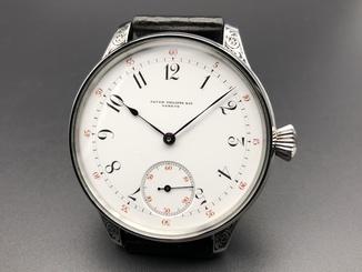 Часы - марьяж на базе механизма карманных часов Patek Pilippe