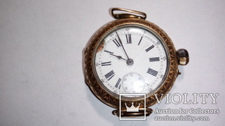 Старинные золотые швейцарские наручные часы марки «ENICAR»