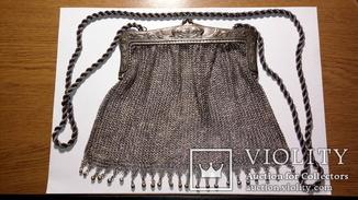 Серебряная женская сумочка. XIX век.