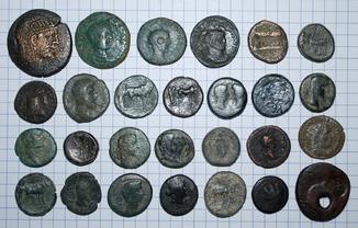Лот монет  Греция, Рим. 27 шт.