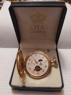 Карманные часы ROYAL LONDON (рабочие практически новые).