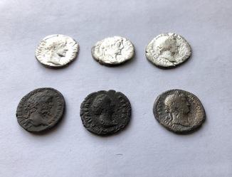 Денарии Рим 6 шт. (серебро и лемес)