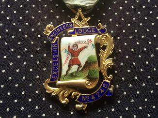 Масонская медаль серебро 1921 год