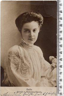 Королевские семьи. Цецилия Августа Мария Мекленбург-Шверинская. 1904 года.