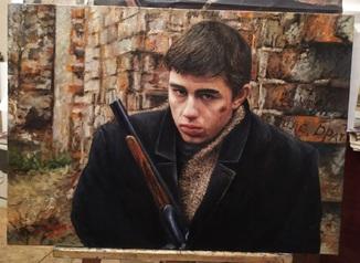 Портрет героя из фильма БРАТ, Сергей Бодров. Худ. Цуканов Ю.Н.