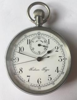 Малый карманный хронограф Павелъ Буре в стали