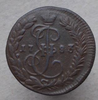 Деньга 1783 КМ. Биткин R.