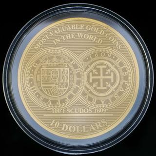 100 Эскудо 1609 Самые Дорогие Монеты Мира / 10 Долларов 2017, Соломоновы Острова